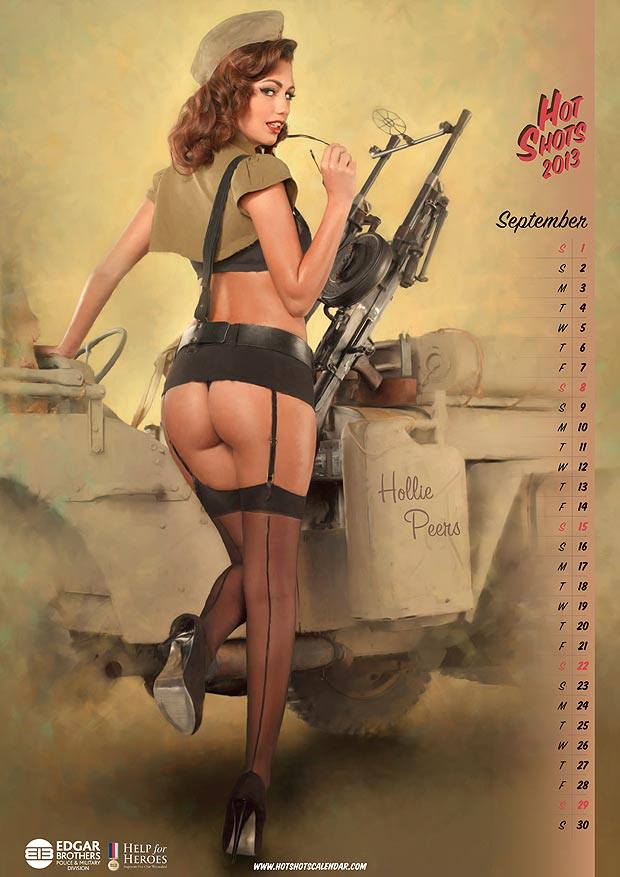 Old school army pin up model