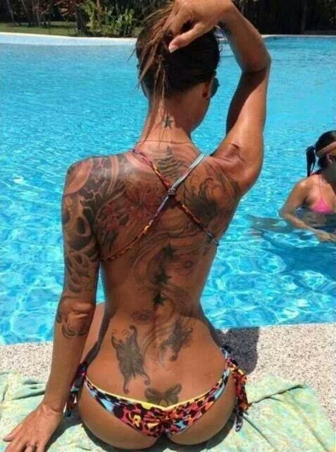 tattoo girl in bikini