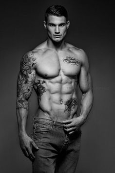 Hot tattoo model male
