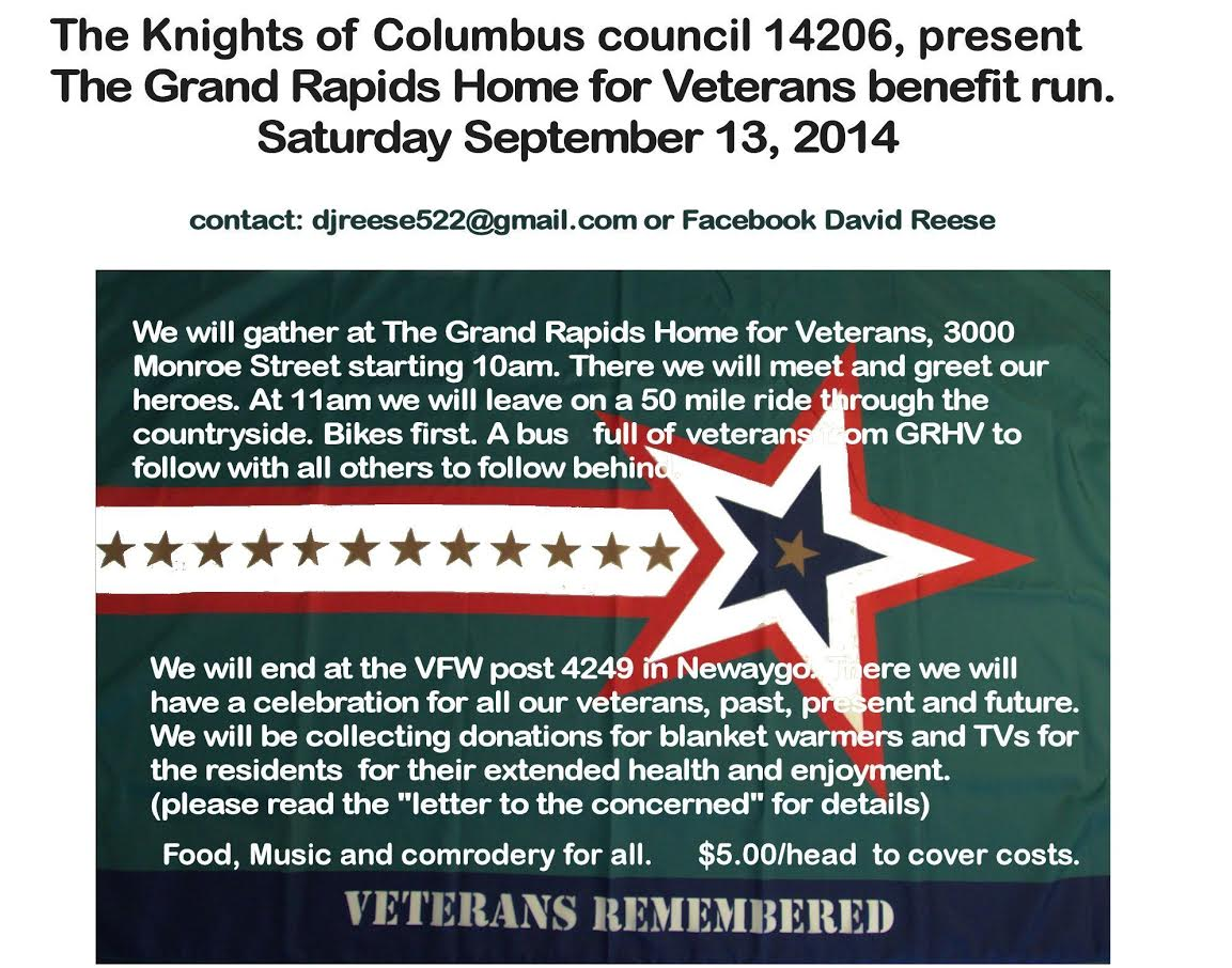 Grand Rapids Home for Veterans benefit run