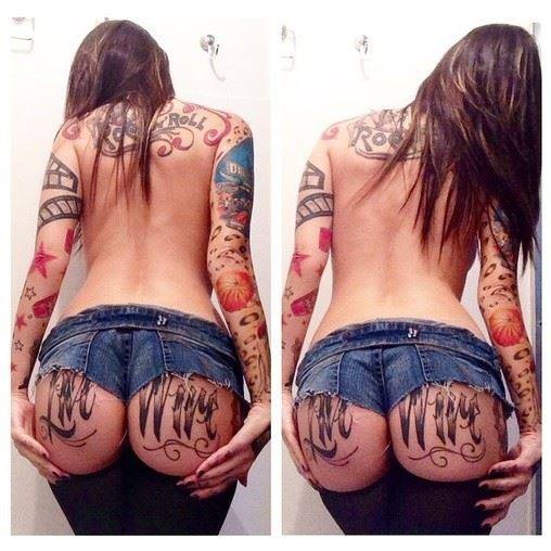 double image tattoo girl