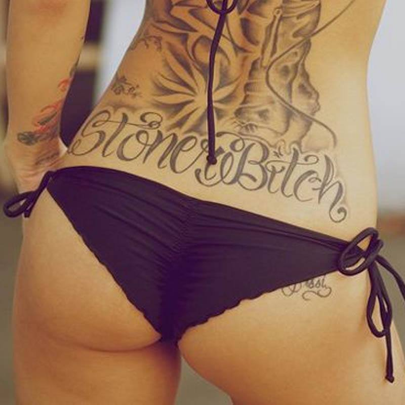 Sexy lower back tattoo