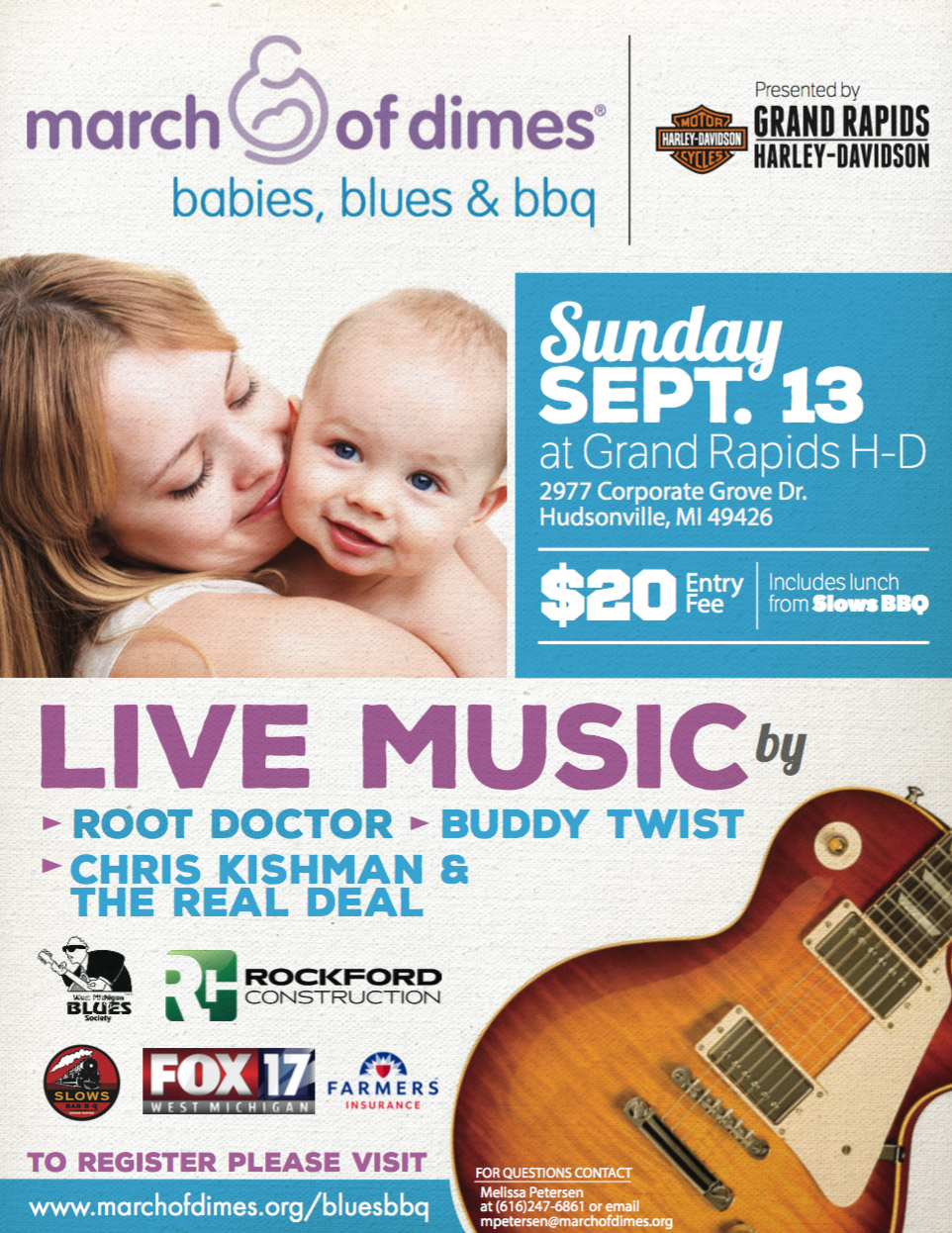Babies, Blues and BBQ on September 13th, 2015