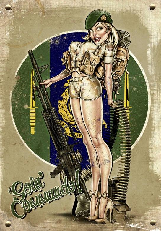 Old Style Pin-up army girl