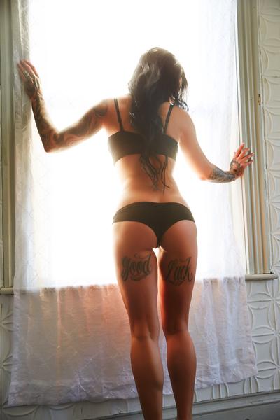 hot ass super nice under butt tattoo