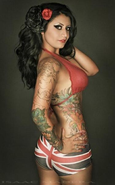 Vintage looking tattoo model
