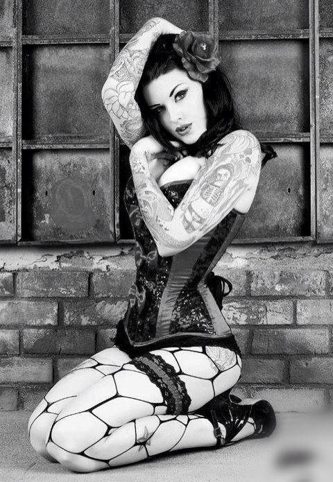 black and white sexy pin up girl