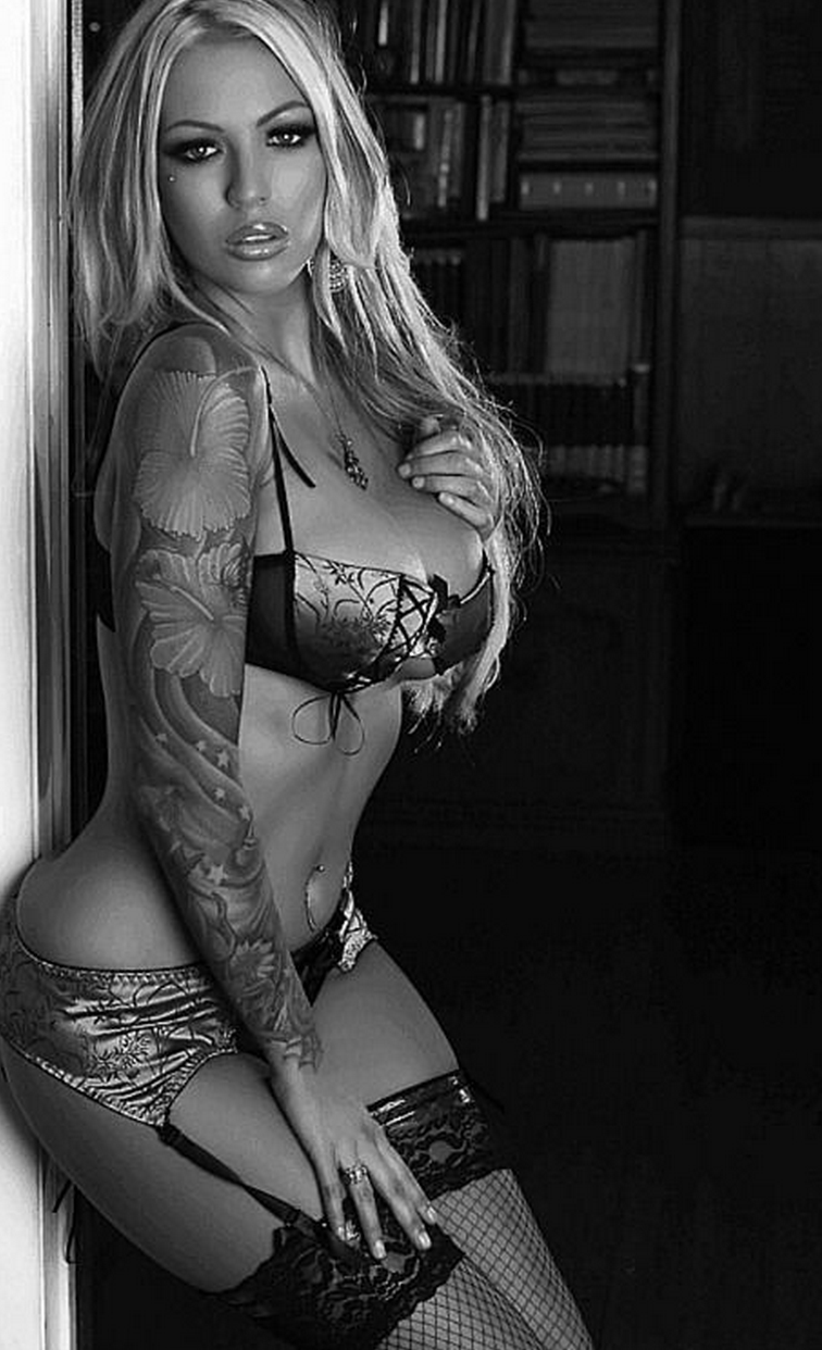 really hot blonde black and white