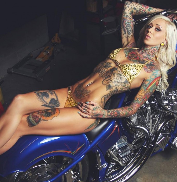 hot tattoo model